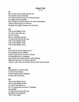 LX Naked Truth Lyrics